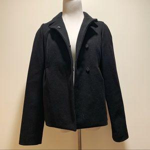Aritzia Wilfred Italian Wool Ruched Back Coat